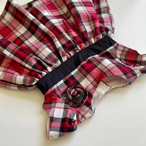 Plaid Baby Girl Dress Red Black White Carters 6M